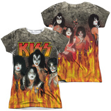 Juniors: Kiss- Through The Fire (Front/Back) T-shirts