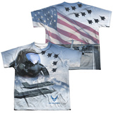 Youth: Air Force- Pilot (Front/Back) Shirts