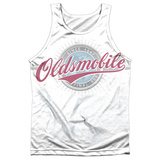 Tank Top: Oldsmobile- Oversized And Faded Logo Tank Top