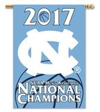 UNC Tar Heels 2017 NCAA Champions 2-Sided Banner Flag