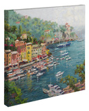 Portofino Stretched Canvas Print by Thomas Kinkade
