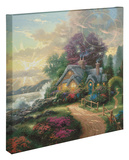 A New Day Dawning Stretched Canvas Print by Thomas Kinkade