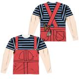 Long Sleeve: Dennis The Menace- Dennis Costume Tee (Front/Back) Shirt