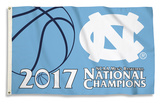 UNC Tar Heels 2017 NCAA Champions Flag with Grommets Flag