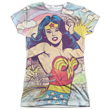 Juniors: Wonder Woman- Hometown Girl Womens Sublimated
