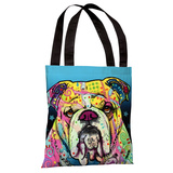The Bulldog Tote Bag by Dean Russo Tote Bag by Dean Russo