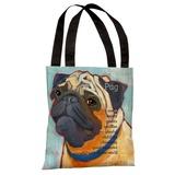 Pug 2 Tote Bag by Ursula Dodge Tote Bag