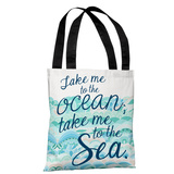 Take Me to the Ocean - Blue Tote Bag by Pen & Paint Tote Bag