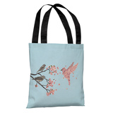 Blossom Bird Sky - Multi Tote Bag by Terry Fan Tote Bag