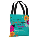 Summer's Day Quote - Blue Multi Tote Bag by Jeanetta Gonzales Tote Bag