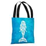 But I Am A Mermaid Blue Ocean - Blue Tote Bag by OBC Tote Bag