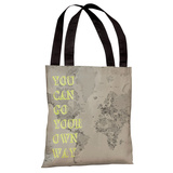 Go Your Own Way Map Tote Bag by OBC Tote Bag