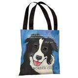 Border Collie 2 Tote Bag by Ursula Dodge Tote Bag