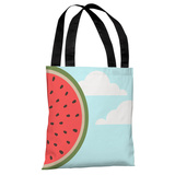Sky Melon - Blue Multi Tote Bag by OBC Tote Bag