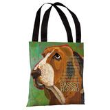Bassett Hound 2 Tote Bag by Ursula Dodge Tote Bag