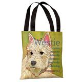 Westie 1 Tote Bag by Ursula Dodge Tote Bag