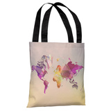 World in Abstract - Multi - Multi Tote Bag by OBC Tote Bag