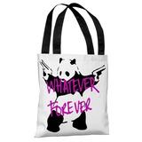 Panda Whatever Forever Tote Bag by Banksy Tote Bag