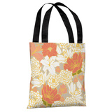 Ornate Florals - Grey Multi Tote Bag by OBC Tote Bag