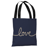 Love Rope - Navy Tan Tote Bag by OBC Tote Bag