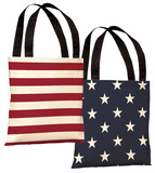 Stars & Stripes Reversible Tote Bag by OBC Tote Bag