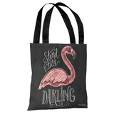 Stand Tall, Darling - Gray White Tote Bag by Lily & Val Tote Bag by Lily & Val