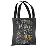 Bushel and Peck - Gray Multi Tote Bag by Lily & Val Tote Bag by Lily & Val