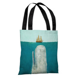 The Whale - Multi Tote Bag by Terry Fan Tote Bag