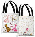 Dress Assortment/Sparkles - White Pink Tote Bag by Timree Tote Bag