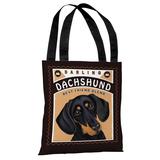 Darling Dachshund Tote Bag by Retro Pets Tote Bag