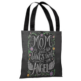 Mom Angel - Gray Multi Tote Bag by Lily & Val Tote Bag by Lily & Val