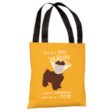 Fun and Games Small Tote Bag by Dog is Good Tote Bag by Dog is Good