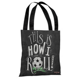 This is How I Roll - Gray White Tote Bag by Lily & Val Tote Bag by Lily & Val