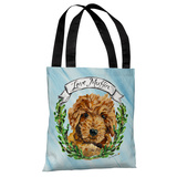 Doodle - Blue Multi Tote Bag by Timree Tote Bag