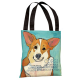 Corgi 2 Tote Bag by Ursula Dodge Tote Bag