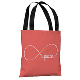 Infinite Peace Tote Bag by OBC Tote Bag
