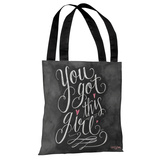 You Got This, Girl - Gray Pink Tote Bag by Lily & Val Tote Bag by Lily & Val