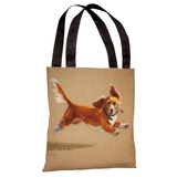 Mighty Mutt Tote Bag by Graviss Studios Tote Bag