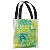 Smile Life Goes On Tote Bag by OBC Tote Bag