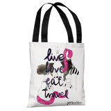 Moscow - White Multi Tote Bag by Judit Garcia Talvera Tote Bag