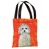 Love & A Dog Tote Bag by Ursula Dodge Tote Bag