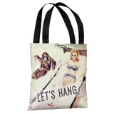 Let's Hang Babe and Chimp - Multi Tote Bag by OBC Tote Bag