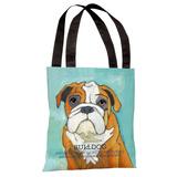 Bulldog 1 Tote Bag by Ursula Dodge Tote Bag