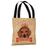 Wigglebutt Tote Bag by Retro Pets Tote Bag