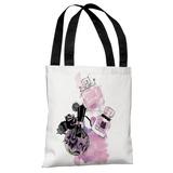 Pink Perfumes - White Multi Tote Bag by Judit Garcia Talvera Tote Bag