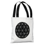 Geodesic - Black Tote Bag by Terry Fan Tote Bag
