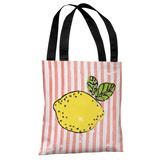 Lemona - Coral Multi Tote Bag by OBC Tote Bag