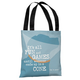 Fun and Games Cone - Blue Tote Bag by Dog is Good Tote Bag by Dog is Good