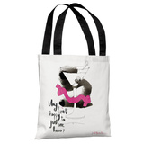 Martini - White Multi Tote Bag by Judit Garcia Talvera Tote Bag