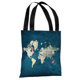 Where to Next - Blue Multi - Tote Bag Tote Bag